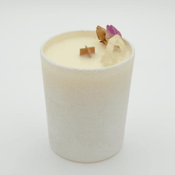 Andělské léčení - Krystalová svíčka s křišťálem - Svíčky Dória