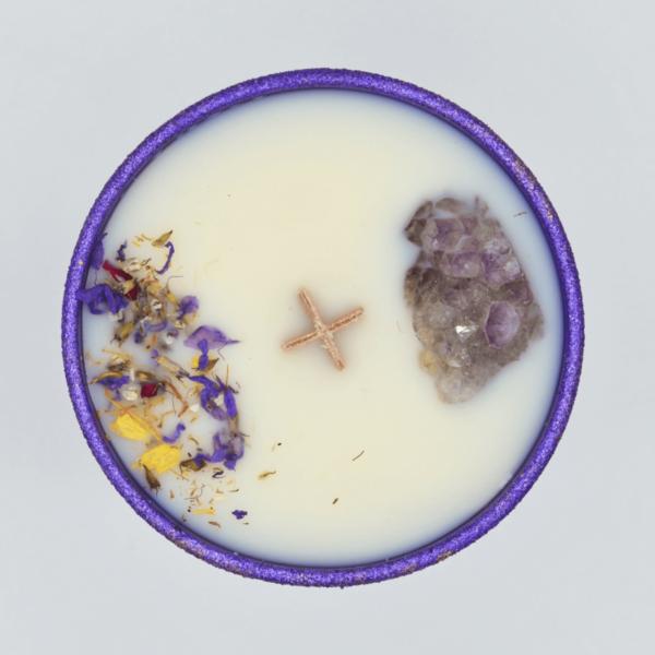 Krystalová svíčka s ametystem 2 - Svíčky Dória