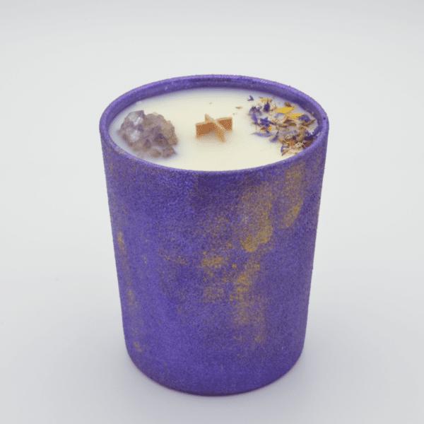 Krystalová svíčka s ametystem - Svíčky Dória