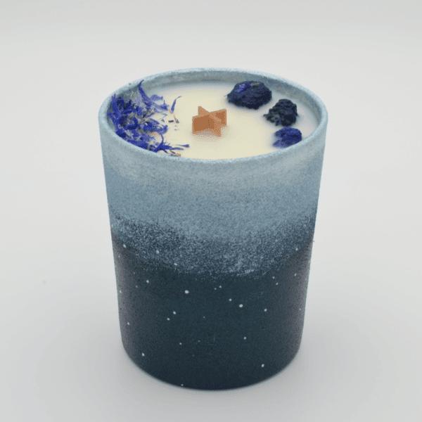 Krystalová svíčka s azuritem - Svíčky Dória