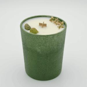 Krystalová svíčka s olivín - Svíčky Dória