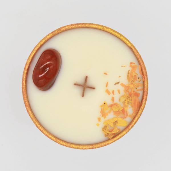 Síla - Krystalová svíčka s karneolem 2 - Svíčky Dória