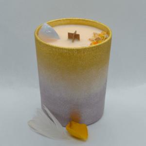 Skořicovo pomerančová svíčka s chalcedonem