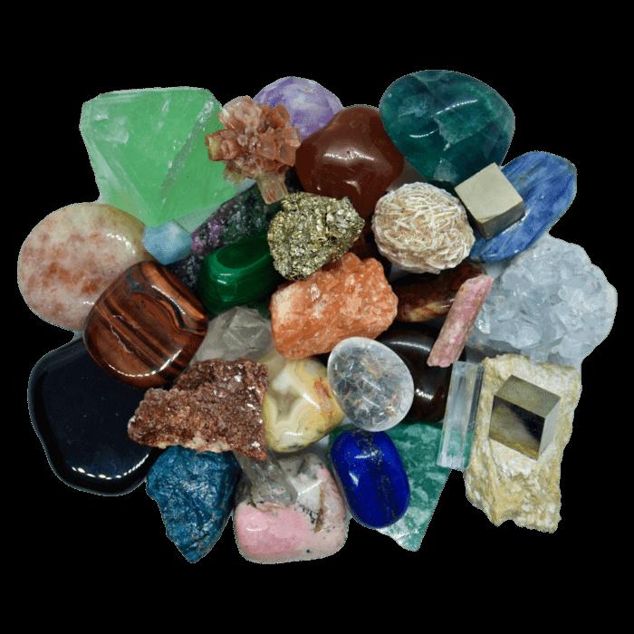 Krystaly, minerály a kameny na výrobu svíček Dória