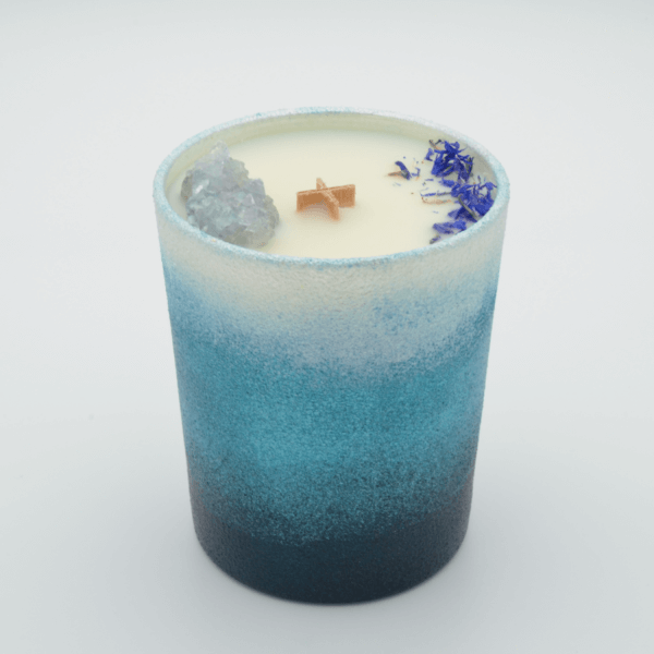 Krystalová svíčka s celestýnem - Svíčky Dória