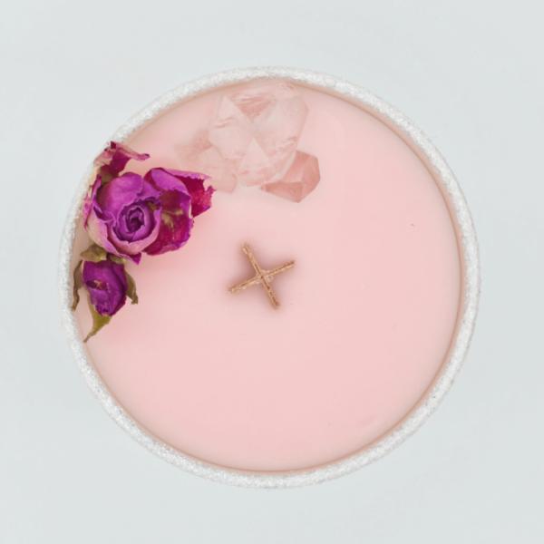 Krystalová svíčka s kříšťálem 2 - Svíčky Dória