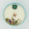 Krystalová svíčka s malachitem 2 - Svíčky Dória
