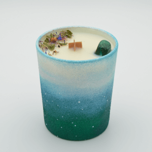 Krystalová svíčka s malachitem - Svíčky Dória
