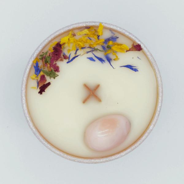 Krystalová svíčka s opálem 2 - Svíčky Dória