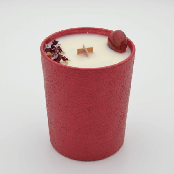 Krystalová svíčka s karneolem - Svíčky Dória