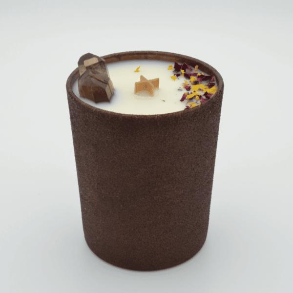 Krystalová svíčka se záhnědou - Svíčky Dória