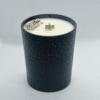Modrá Vánoční sojová svíčka s pyritem 1
