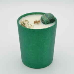 Krystalová svíčka s azuromalachitem - Svíčky Dória
