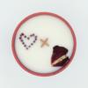 Krystalová svíčka s granáty 2 - Svíčky Dória