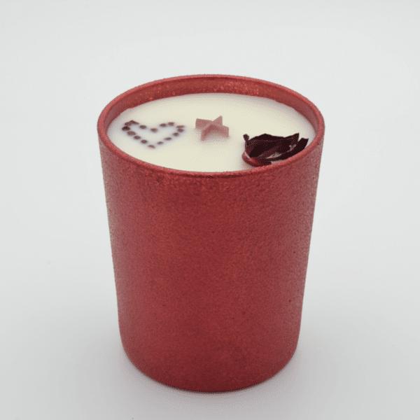 Krystalová svíčka s granáty - Svíčky Dória