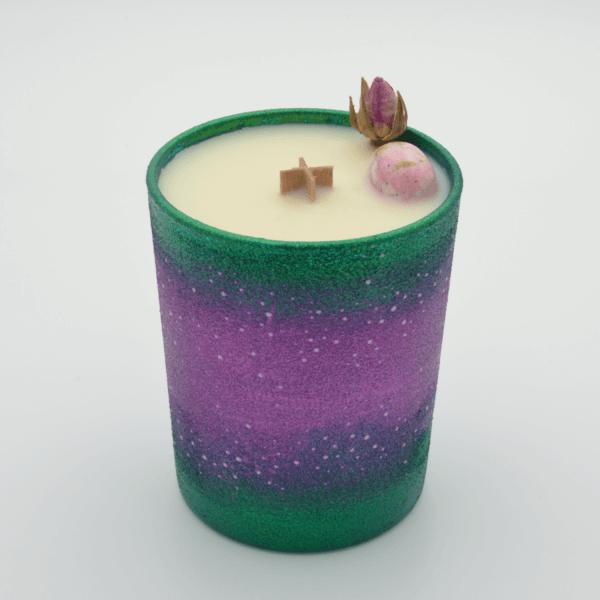 Krystalová svíčka se rodochrozitem - Svíčky Dória